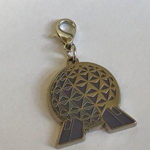 Disney EPCOT Ball Spaceship Earth Charm ZipperPull
